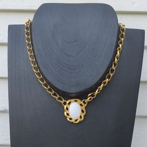 vintage Monet Chunky Chain Link statement Necklace